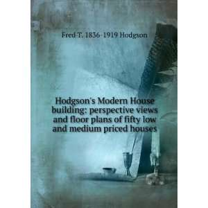 Hodgsons Modern House building perspective views and floor plans
