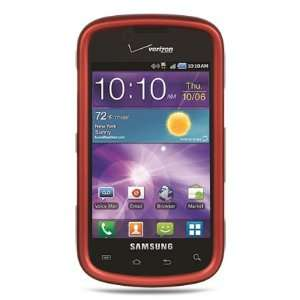 VMG Samsung Illusion i100 Hard Case Cover   Dark Red Premium Hard 2 Pc