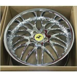 Ferrari F355 Challenge 19 Inch Chrome 3 Piece Wheels Rims 1987 1988