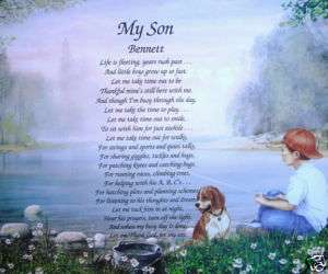 MY SON POEM PERSONALIZED GIFT BOY FISHING ROOM DECOR