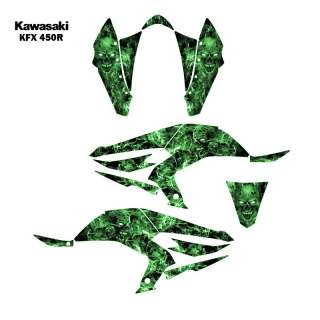 Kawasaki KFX450R ATV Graphic Decal Sticker Kit Zombie 9500G