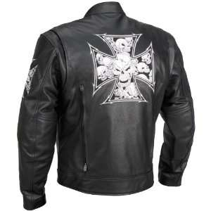 River Road Iron Cross Graphix Jacket 40 XF09 4825 Automotive