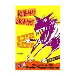 ROLLING STONES Urban Jungle Tour Berlin 6th June 1990 Music Poster