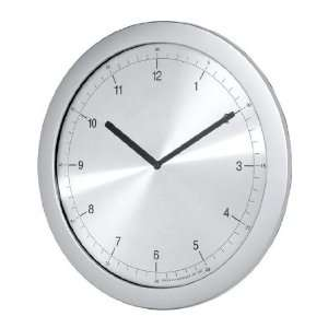 Verichron G81411 P Super Slim Aluminum Clock