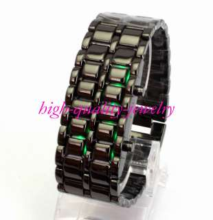 Luxurys Lava Iron Samurai Metal LED Faceless Watch Mans Womens Lady