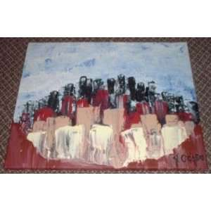MODERN ART PAINTING ABSTRACT EXPRESSIONISM ENTITLED THE
