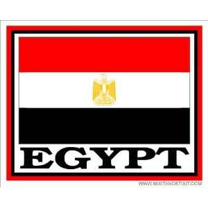 Flag of Egypt Car Permanent Adhesive Bumper Sticker Automotive