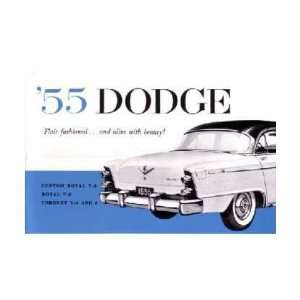 1955 DODGE Car Full Line Owners Manual User Guide