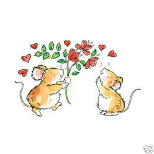 Penny Black love tail Rubber stamp Valentines Mice