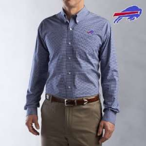 Cutter & Buck Buffalo Bills Mens Collegiate Check Woven Long Sleeve