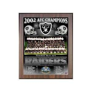 2002 Oakland Raiders NFL Football AFC Championship 11x13