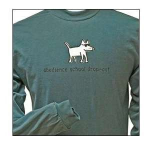 Cotton Long Sleeved T Shirt   Garment Dyed Obedience School Drop Out
