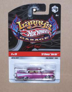 HOT WHEELS LARRYS GARAGE 57 CHEVY BEL AIR SIGNED