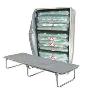 Cot 3 Level Bed Cart with 6 Extra Wide Folding Cots