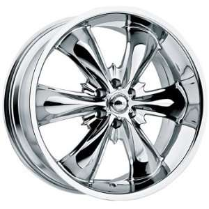 Akuza Game Over 20x9 Chrome Wheel / Rim 6x5.5 with a 30mm Offset and a