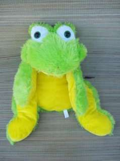 GOFFA Bright Green Yellow FROG Plush Stuffed Animal 21