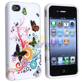 ACCESSORY for Apple iPhone 4S 4 G PRIVACY GUARD+CHARGER+TPU FLOWER