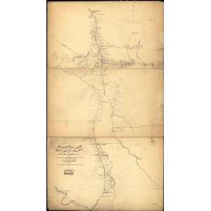 Civil War Map Topographical sketch of the country adjacent