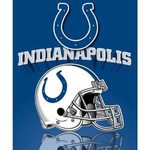 Indianapolis Colts Light Weight Fleece NFL Blanket (Grid