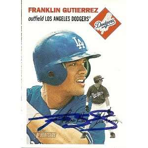 Indians Franklin Gutierrez Signed Topps Heritage Card