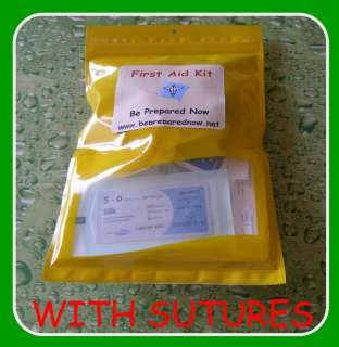 First Aid Kit Medical Supplie SUTURE Kit in Weatherproof bag Hunting