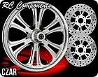 RC Components Chrome Czar Wheels, Tires, Rotors Harley