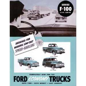 1953 FORD F100 TRUCK Sales Brochure Literature Book