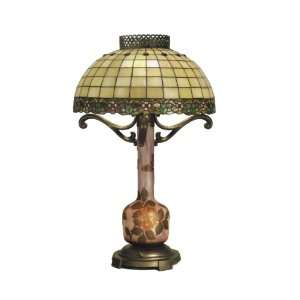 Tiffany TT50108 Algardi Table Lamp, Antique Bronze and Art Glass Shade