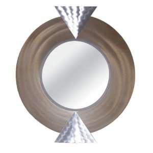 Nova Earthquake Bronze Finish and Aluminum Round Wall Mirror