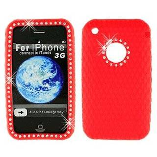 Rhinestone Soft Silicone Skin Gel Cover Case for Apple Iphone 3g 3gs