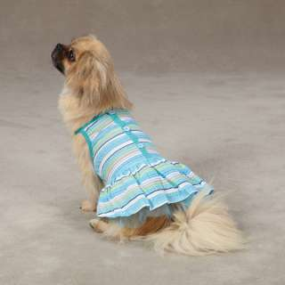 ZACK & ZOEY STRIPED SEERSUCKER PET DRESS DOG SKIRT NEW