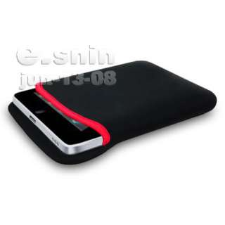IN 1 BLACK/RED NEOPRENE SLEEVE CASE FOR APPLE IPAD