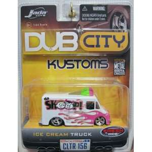 JADA TOYS 2006 DUB CITY KUSTOMS DA SCOOP ICE CREAM DELIVERY TRUCK WAVE