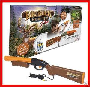 BIG BUCK HUNTER PRO Hunting TV Game w/ GUN Rifle *NEW*