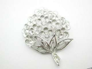 Vintage Sarah Coventry Rhinestone Flower Brooch
