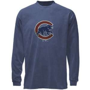 Chicago Cubs Big Time Play Garment Dye Long Sleeve T Shirt by Majestic
