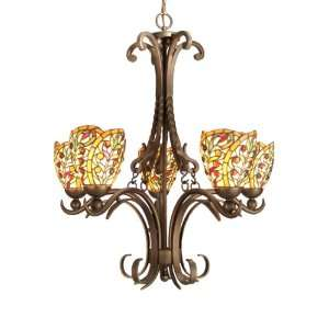 Dale Tiffany TH50112 Sir Lawrence Light Chandelier, Antique Bronze and