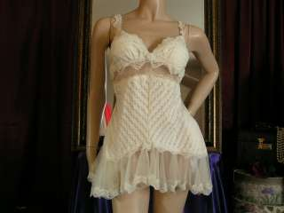 Designer Nylon Stretch Babydoll Nighty Negligee Gown Nightgown ~ 3X