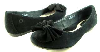 BORN KIRA Black Suede Womens Shoes Flats 9.5 EUR 41