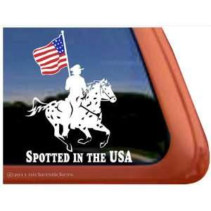 Spotted in the USA Appaloosa Drill Team Trailer Vinyl Window Decal