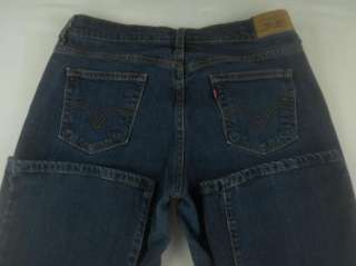 Levis 515 Boot Cut Stretch Denim Blue Jeans Womens Pant Sz 4 6 L 6L