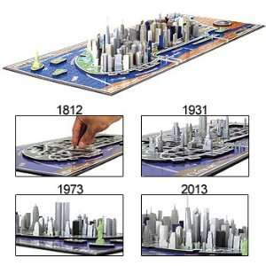 4D Cityscape 4D New York City Skyline Time Puzzle Toys