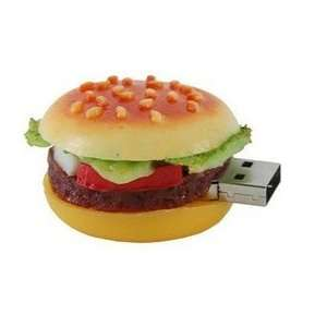 4GB Lovely Big Hamburger Shape Flash Drive (Yellow