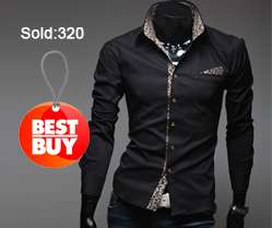 2012 New Mens Striped Luxury Stylish Casual Dress Slim Fit Shirts FREE