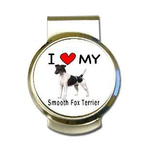 I Love My Smooth Fox Terrier Money Clip