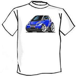 Smart Car Mercedes Benz Muscle Car Cartoon Tshirt