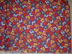 CLIFFORD RED DOG CATS BIRDS 100% COTTON QUILT FABRIC FROM QUILTING