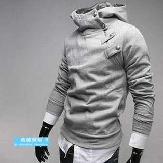 Winter Fashion Men Casual Slim Fit Zip Sweater hoodies Jacket Coat