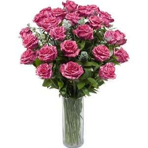 Two Dozen Premium Long Stem Pink Intuition Roses with Cylinder Hand
