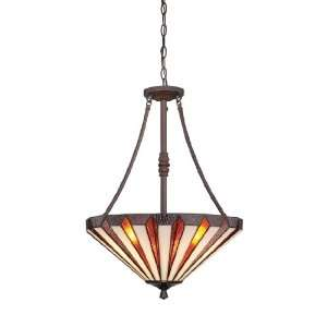 Quoizel TFMS2825RS Marquis 3 Light Tiffany Chain Hung Pendant Light